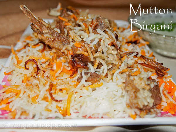 biryani Mutton Biryani Recipe With Step By Step Pictures