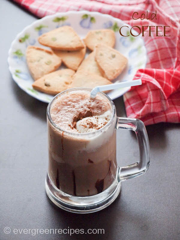 how to make cold coffee with ice cream
