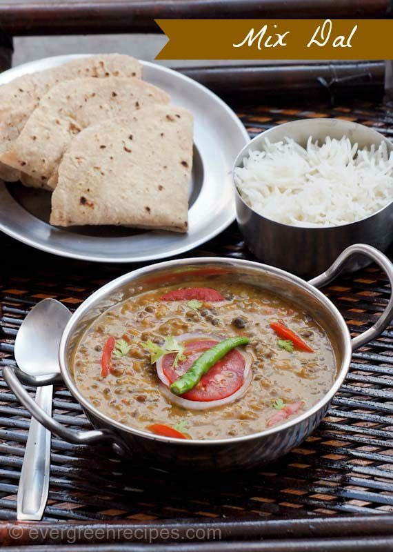 Mix Dal Recipe With Step By Pictures