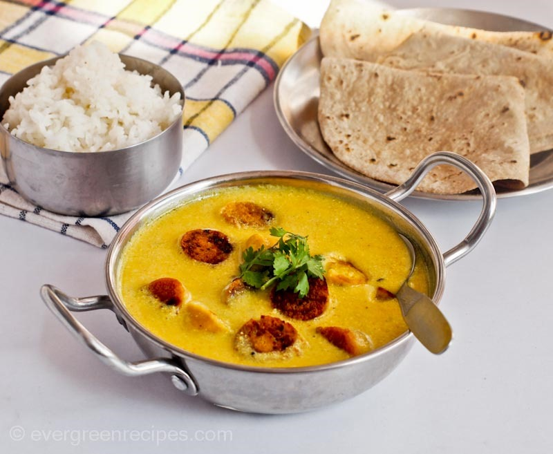 Gatte ki sabzi recipe how to make gatte ki kadhi download the pdf version of this recipe forumfinder Gallery