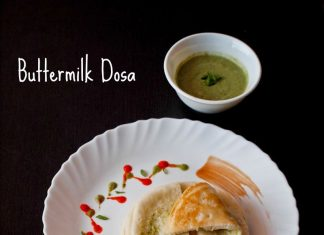 South indian food easy step by step recipes buttermilk dosa recipe dosa recipe forumfinder Gallery